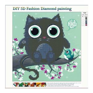 Diamond Cross Stitch 5D Diamond Draw Full Diamond Animal 7580 Fashion Living Room Kitchen Decoration Painting