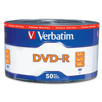 DVD-R 16x 4.7 GB/120 Minute Disc 50-Pack Shrink Wrap