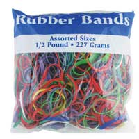 Assorted Rubber Bands, Multi Color