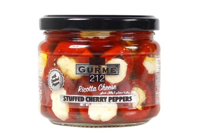 Gurme Ricotta Cheese - Stuffed Cherry Peppers - 10.5 Ounces