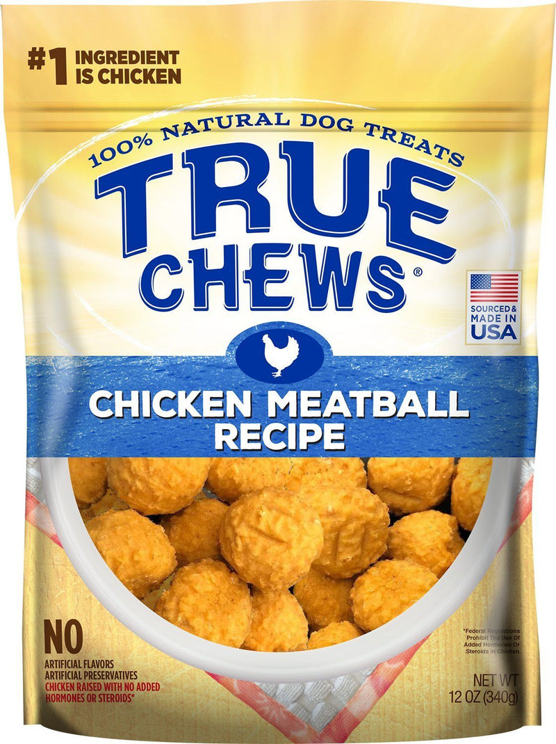 True Chews Chicken Meatball Recipe Dog Treats, 12oz