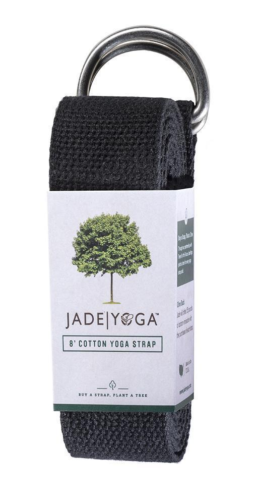 Jade Yoga Strap - Black