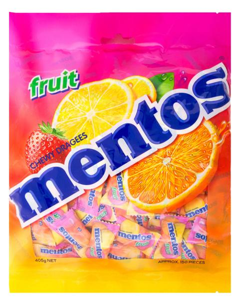 Mentos Bag Fruit Candy 405g