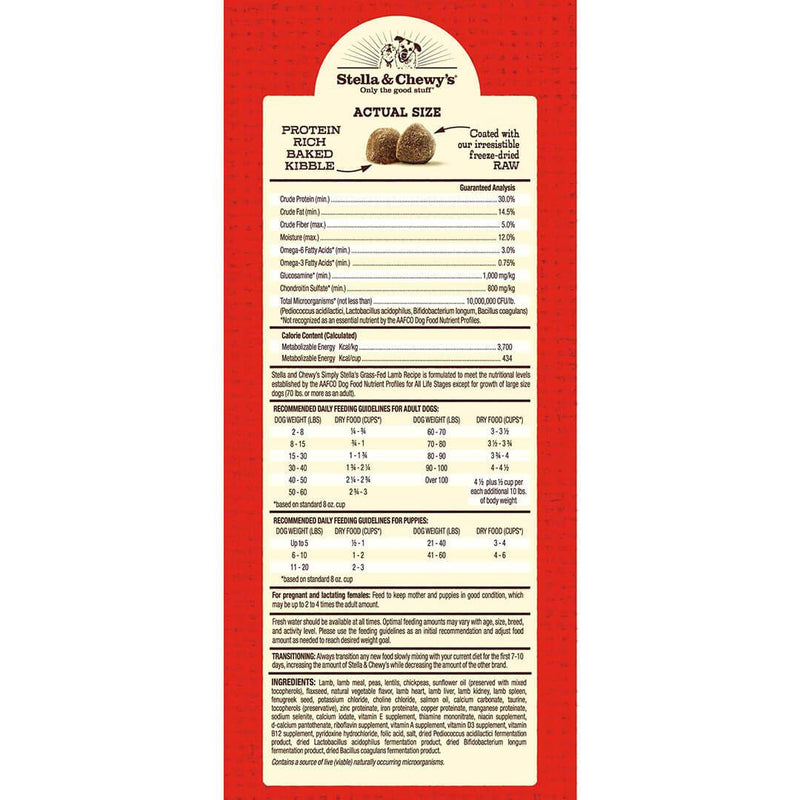 Stella & Chewy D Limited Ingrediant Kibble Lamb