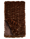 Couture Collection Mahogany Mink Faux Fur Throw