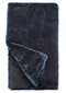 Couture Collection Steel Blue Mink Faux Fur Throw