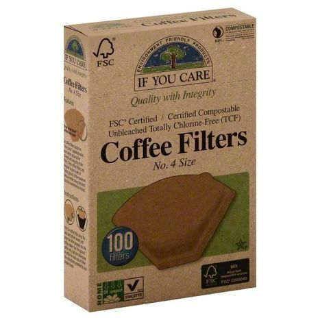 If You Care Coffee Filters, No. 4 Size - 100 Each