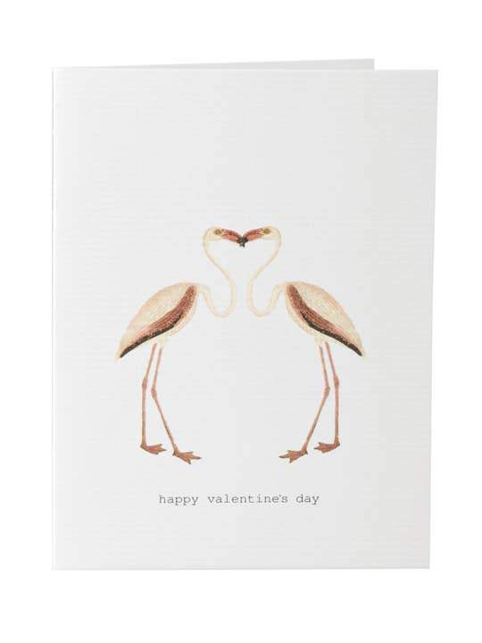 Flamingos Valentine's Day Card