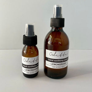 Odette Hand Sanitising Spray, Lemongrass