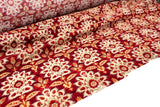 Red Vintage Print Velvet Woven by the yard ATW00117R