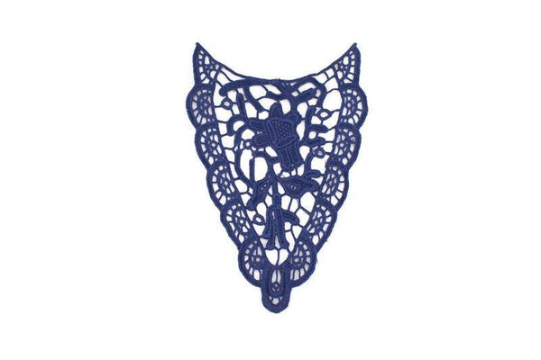 Blue Guipure Lace Applique APP00200