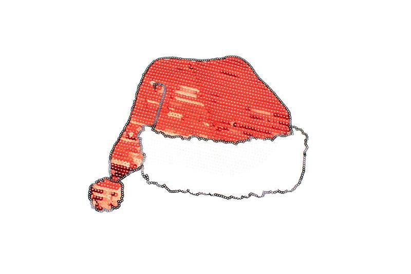 Santa Hat Sequined Applique APP00194