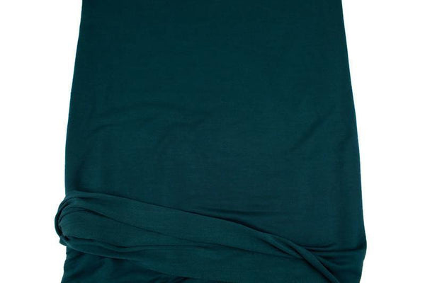 Dark Teal Baby French Terry Knit Fabric by the yard FTK00800R