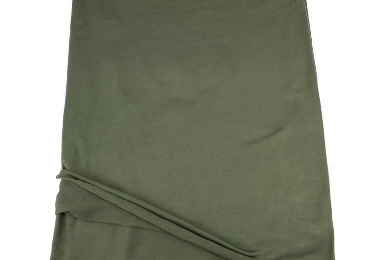 Olive Green Baby French Terry Knit Fabric by the yard FTK00799R