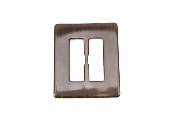 Warm Gray Dark Brown Large Slide Buckle 4-1/8 inches x 3-3/8 inches NTN00046