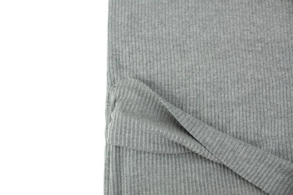 Heather Gray Brushed Rib Sweater Knit Fabric 2.25 yards OSK01082