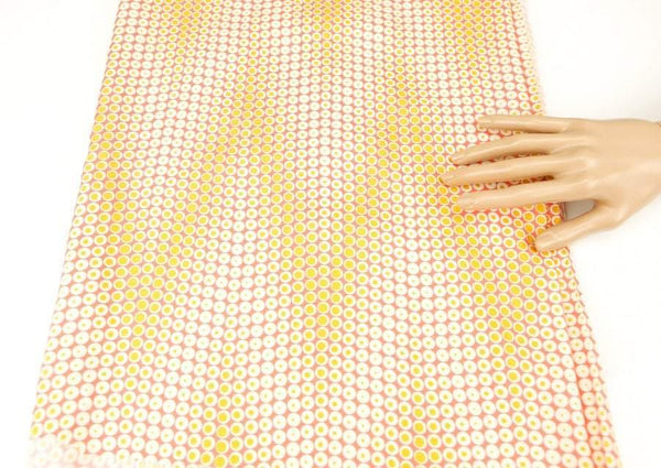 Blush and Orange Chevron Zig Zag Light Weight Rayon Woven Fabric Joel Dewberry Fabrics 2 yards  LWW00082