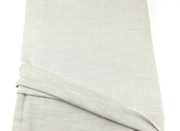 Light Warm Stone Reversible Brushed Cotton Linen Blend Woven Fabric 44 inches length  ATW00009