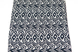 Tribal Black and White Sand Challis Woven Fabric 2 Pieces that Total 1 Yard and 29 Inches  LWW00004