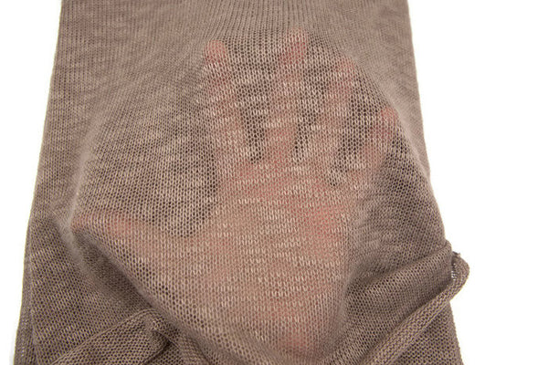 Heather Milk Chocolate Brown Open Weave Knit Sweater Knit Fabric by the yard OSK00352R