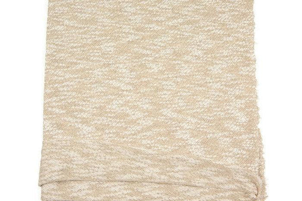 Heather Light Beige and Off White Open Weave Sweater Knit Fabric by the yard OSK00403R
