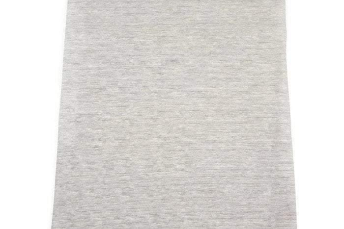 Heather Light Gray Fancy Stripe Sweater Knit Fabric 1 Yard and 21 Inches OSK00594