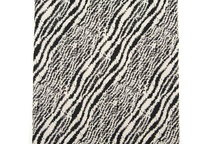 Black and Light Beige Graphic Zebra Design Stretch Brocade Reversible 23 inches length ATW00064