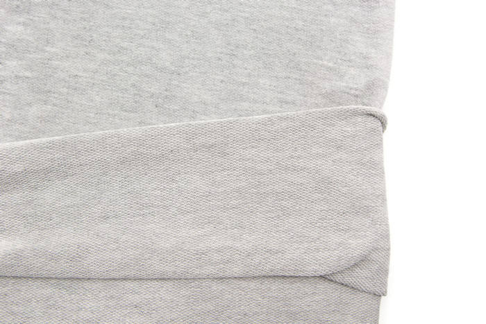 Heather Light Gray Baby French Terry Knit Fabric by the yard FTK00390R