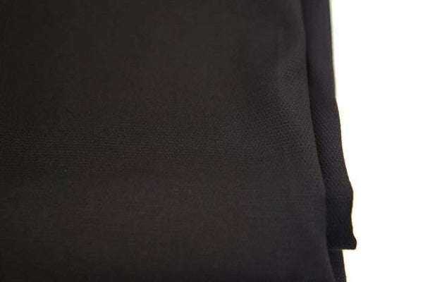 Black Stretch Pique Woven Fabric High End 2.75 yards ATW00089