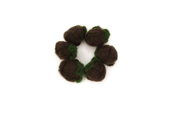 Dark Brown Rounded Flower Knit Crochet 6 Pieces for Newborn Headbands Toddlers Accessories  ATN00189