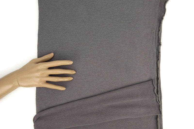 Taupe Brushed Fleece Like Sweater Knit Fabric by the yard OSK00971R