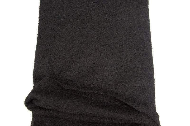 Black Tweed Knit Fabric by the yard OSK00977R