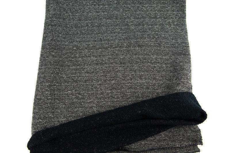 Heather Gray and Black French Terry Fabric Medium Weight by the yard FTK00716R - Felinus Fabrics