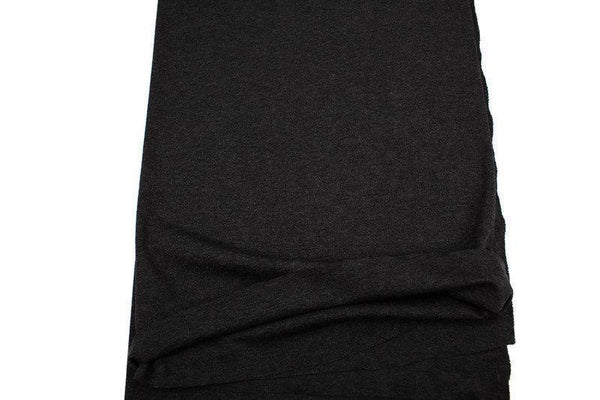 Dark Gray Brushed Fine Rib Knit Jersey Fabric by the yard ATK00421R