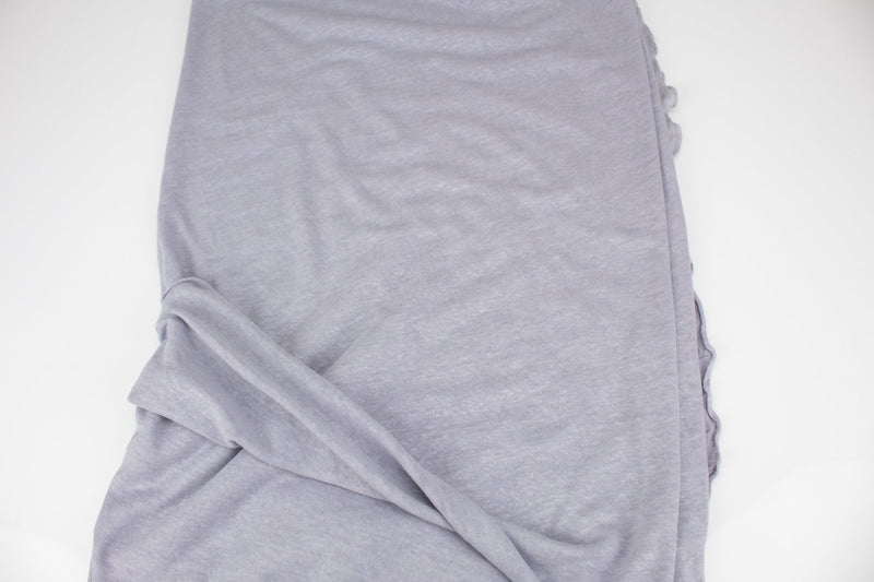 Heather Lavender Gray Sweater Knit Fabric 1 yard OSK00992