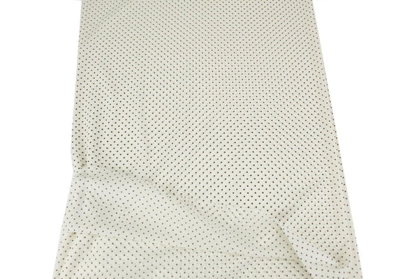 Black and Off White Polka Dot Stretch Mesh Fabric by the yard LML00176R