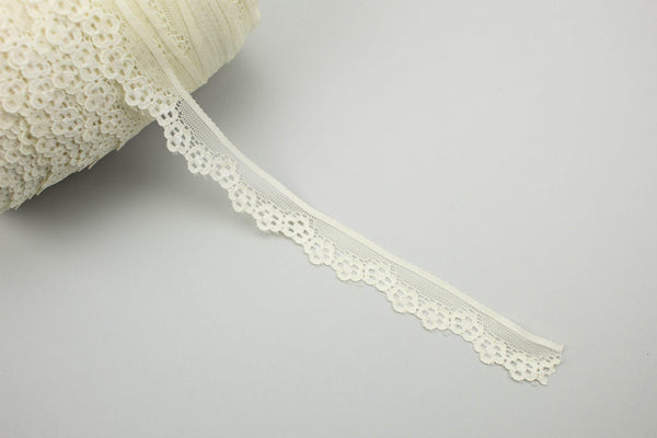 Buttercream Stretch Scalloped Lace Trim per 5 yards SLT00186