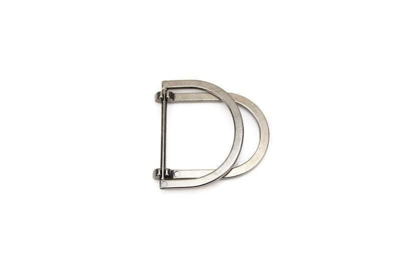 Gunmetal D Ring Buckle Swivel Double Loop D Ring Purse Buckle Strap Purse Hardware 1 Piece NTN00021