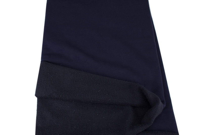 Navy Blue Medium to Heavy Weight French Terry Knit Fabric by the yard FTK00732R