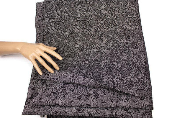 Denim Paisley Damask Woven Fabric by the yard ATW00113R