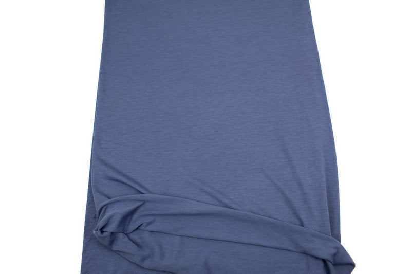 Periwinkle Blue Knit Jersey Fabric by the yard ATK00426