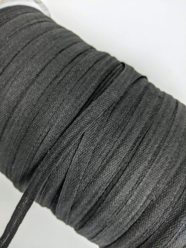 Black Flat Cotton Woven Trim Tape 18 yards ATN00827A