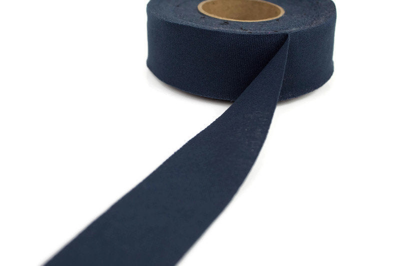Prussian Blue Bias Tape Tricot Knit Lining 1-1/8 inches wide x 18 yards  BST00141