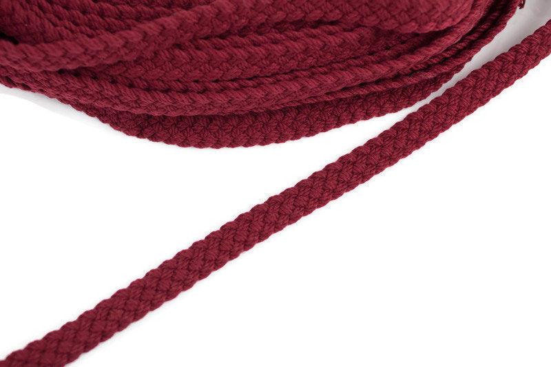 Maroon Flat Braided Cord Trim Strap 5 yards ATN00892