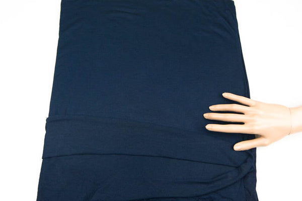 Navy Blue Dark Blue Knit Jersey Fabric by the yard ATK00438R