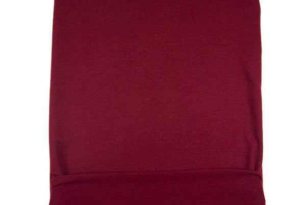 Maroon Baby French Terry Knit Fabric 1/2 yard FTK00780A