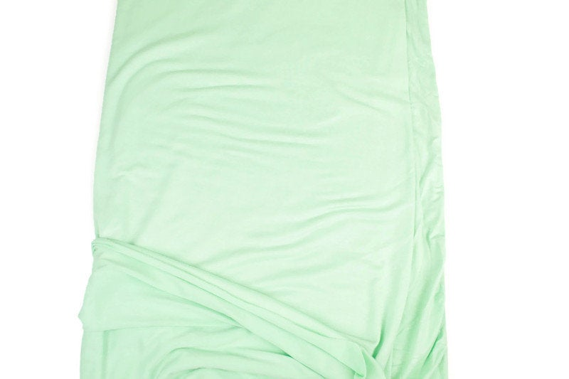 Mint Green Knit Jersey Fabric by the yard ATK00440R