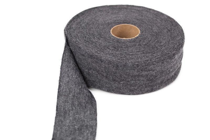 Heather Dark Gray Sweater Knit Bias Tape 1-5/8 inches width x 19 yards BST00153