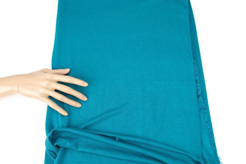 Peacock Blue Sweater Rib Knit Jersey Fabric by the yard OSK01010R