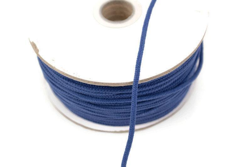 Blue Soft Round Elastic Trim Spaghetti Straps Face Mask Elastic Ear Loops Headbands 5 yards ELT00187